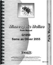 Minneapolis Moline G1050 Oliver 2055 Tractor Parts Manual Catalog