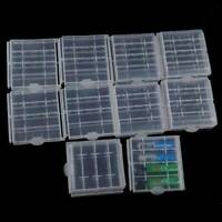 10pcs Useful Hard Plastic Clear Case Cover Holder AA/AAA Battery Storage Box
