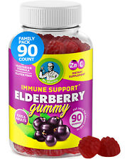 Elderberry Gummies with ZINC and VITAMIN C for Kids and Adults IMMUNE SUPPORT