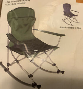 Portable The Rocking Armchair,Outdoor(Mac Sports)Blue Camping Foldable Seat Cup.