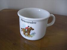 """Orvieto tazza in ceramica con manico con il nome """"Alessandro"""""""
