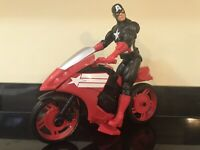Marvel Avengers Toys Captain America Action Figure Kids Toy motorbike Cycle