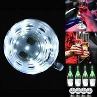 Creative Luminous Bottle LED Light Cup Sticker Mat Decors Coaster Bar Club S2T8