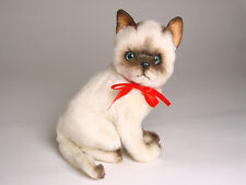 Siamese Kitten by Piutre, Hand Made in Italy, Plush Stuffed Animal NWT