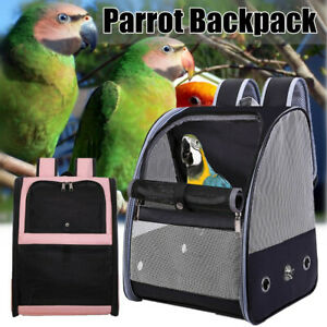 AU Portable Bird Parrot Pet Carrier Backpack Breathable Travel Bag Cage Outdoor