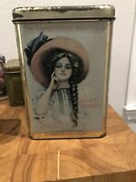 """Vintage Cheinco """"The Ladies Home Journal"""" Girls Number Tin Canister 1909 Artwork"""