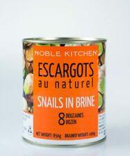 ESCARGOTS NATURAL SNAILS IN BRINE 8 DOZENS 850g - JUMBO VALUE PACK (FREE POST)
