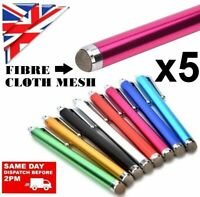 5 x MICRO FIBRE CLOTH STYLUS PENS for iPAD,TABLETS, iPHONE 11 12 MAX PRO SAMSUNG