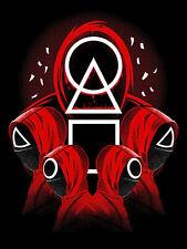 Squid game 5 gardien rouge Affiche Film Plaque Aluminium Poster Sign Print Métal