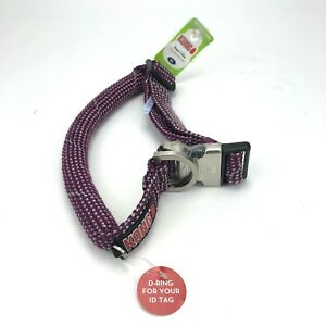 KONG X-Large Dog Collar Reflective Purple Neck Size 24-30in DS ROPE NEW!!