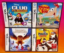 Dsiney Legend of Guardians Ferb, Penguins of Madagascar Nintendo DS Lite 3DS 2DS