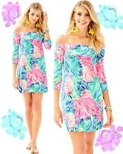 "Lilly Pulitzer Laurana Dress Size XS ""beach Please"" Print"