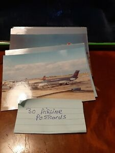 30  VINTAGE COMMERCIAL AIRCRAFT-  POSTCARDS (All shown)