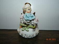 """#489 4 1/4"""" Vintage Geo Lefton Angel Figurine Spaghetti June Pearl Rose"""