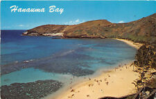 HONOLULU HI 1972 Panoramic View of Hanauma Bay VINTAGE HAWAII GEM+++ rl471
