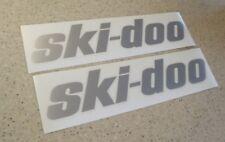 Ski-Doo Vintage Snowmobile Decals Silver 2-PK FREE SHIP + FREE Fish Decal!