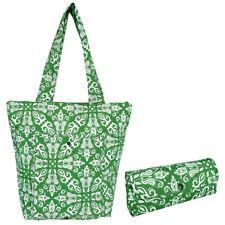 Sachi Insulated Folding Market Tote Bag Bohemian Green