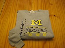 Michigan Wolverines long sleeve crewneck sweatshirt size adult L Large