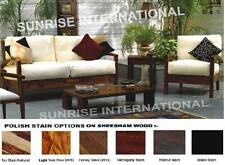 Living room furniture - Artistic Wooden Sofa Set 3 + 1 + 1 + Center table !
