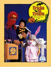 Applause Tricks N Treats Halloween Catalog 1993 Little Spooks Masks Earrings