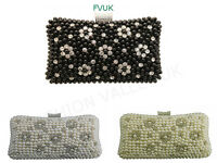 LADIES BEADED RHINESTONE CLUTCH BAG WEDDING EVENING PARTY HANDBAG PURSE