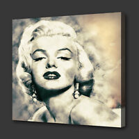 ICONIC MARILYN MONROE GRUNGE STYLE MODERN WALL ART PICTURE CANVAS PRINT
