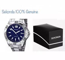 SEKONDA BRAND NEW 1170 Men's Quartz Watch With Two Tone Dial,Bracelet & Gift Box