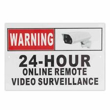 Metal Security Sign Camera Warning CCTV Online Remote Video Surveillance Sign