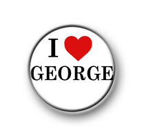 """I LOVE / HEART GEORGE / 1"""" / 25mm pin button / badge / band / Indie Pop / 1975"""