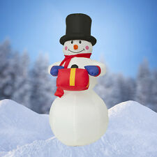 NEW, 6 FT Airblown Inflatable Snowman Christmas Decoration with Inside Lights