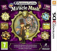 PROFESSOR LAYTON AND THE MIRACLE MASK NINTENDO 3DS FACTORY SEALED UK PAL