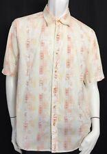 Tommy Bahama Size Medium White Cotton Floral Hawaiian Camp Shirt Casual  Aloha