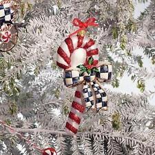 Mackenzie-Childs COURTLY CANDY CANE Ornament *NIB* Item #53913-75