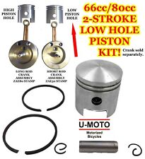 New Diy 2-Stroke 66cc/80cc Motorized Bicycle Piston Kit For Bicycles Low Hole