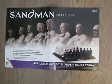 Promo Poster - Sandman Chess set - DC/Vertigo Neil Gaiman - 2014 Death Destiny..