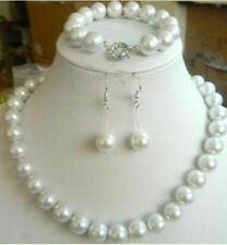 Beautiful 10mm White Sea South Shell Pearl Round Beads Necklace Bracelet Earring