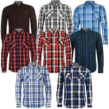 05aaf8db22bf Lee Cooper Herren Langarm Hemd karriert Shirt Freizeit Langarmhemd S-XXL NEU