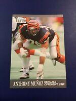 1991 Fleer Ultra # 21 ANTHONY MUNOZ Cincinnati Bengals Set Break SHARP LOOK !