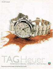 PUBLICITE ADVERTISING 045  1997  TAG HEUER  coll montre S 6000 CHRONOGRAPHE
