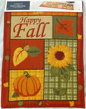 """Quilted Table Runner HAPPY FALL Thanksgiving  Autumn Holiday Decor 36"""" NEW"""