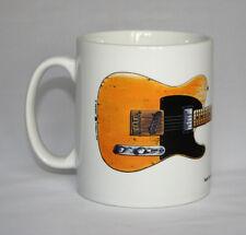 Guitar Mug. Keith Richards' Fender Telecaster Micawber Guitar Illustration.