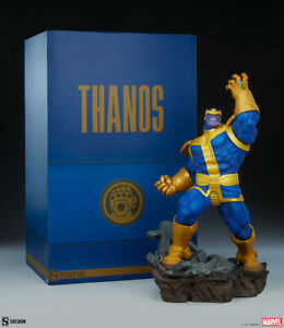Sideshow Marvel Comics Avengers Assemble Thanos Classic Version Statue In Stock