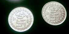 10 Grams Pure Silver LAKSHMI GANESH OM SWASTIK Puja Indian Coin For Diwali Puja