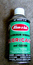RARE vintage ALUM-A-LUB aluminum window lubricant TIN household product St Louis