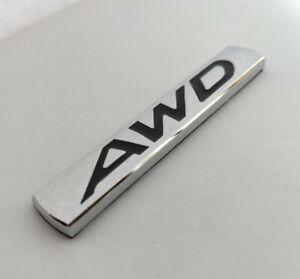 Noir Argent AWD Métal Chrome Badge pour Ssangyong Korando Musso Rexton Tivoli