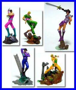 Rares Set 5 Figurine Trading Jojo Bizarre Aventures Version Couleur Originaux