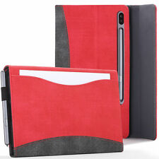 Samsung Galaxy Tab S6 10.5 Case Cover Stand with Document Pocket - Red + Stylus