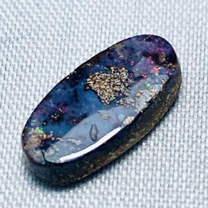 Echter Ovaler Mehrfarbiger Boulder Opal 2.1ct 12.8x6.3mm