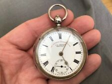 Sheffield Chester 1905 No Reserv Antique Sterling Silver Pocket Watch J.G.Graves