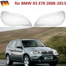2 stk. Scheinwerferglas für BMW X5 E70 2008-2013 Klar Scheinwerfer Streuscheibe